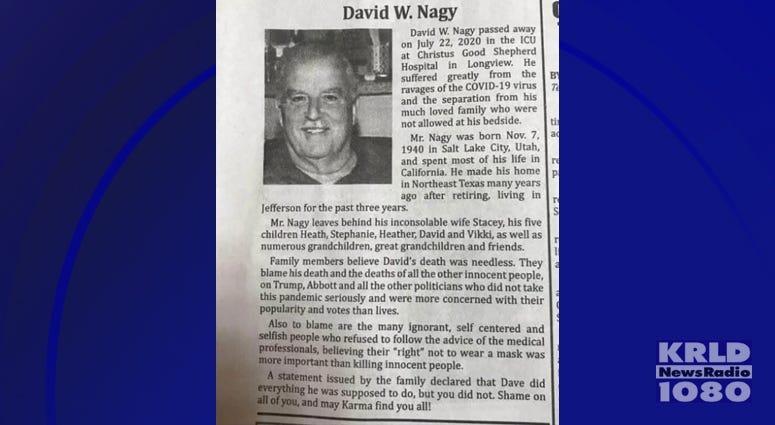 David Nagy Obit