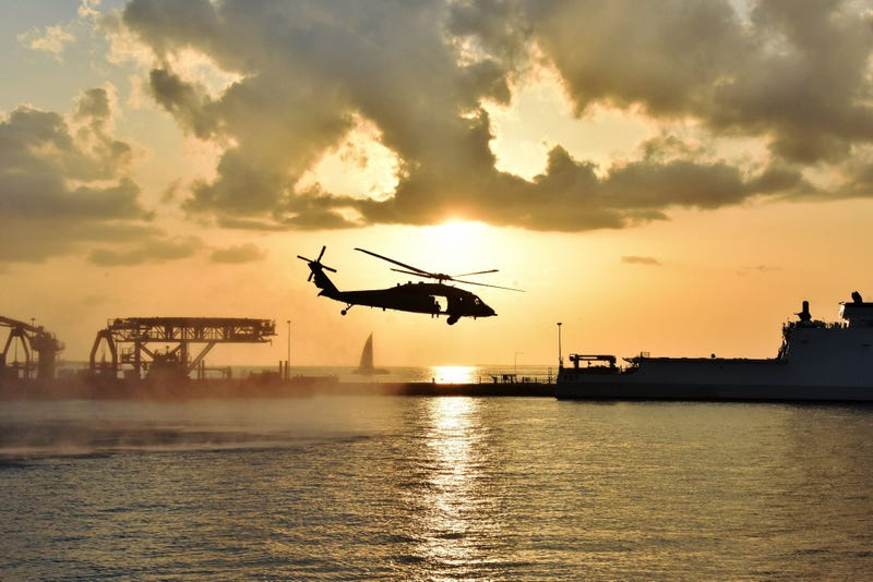Naval Air Station Key West's Search and Rescue assisted special operators with helo casts from the MH-60 Seahawk in NAS Key West's Truman Harbor