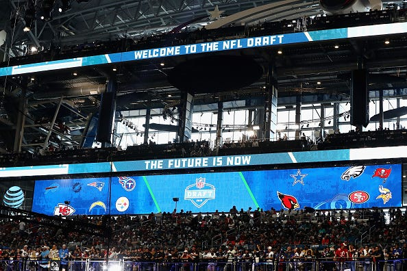 The 2018 NFL Draft at AT&T Stadium in Dallas.