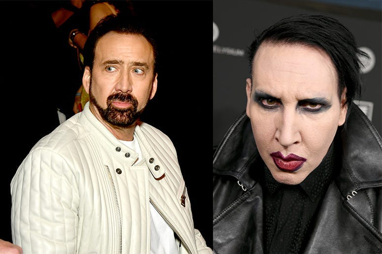 Nicolas Cage Tells Marilyn Manson He Owns A Crow