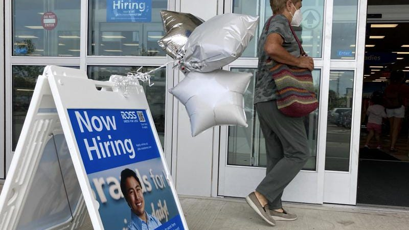 US added 943,000 jobs in July; unemployment rate at 5.4%
