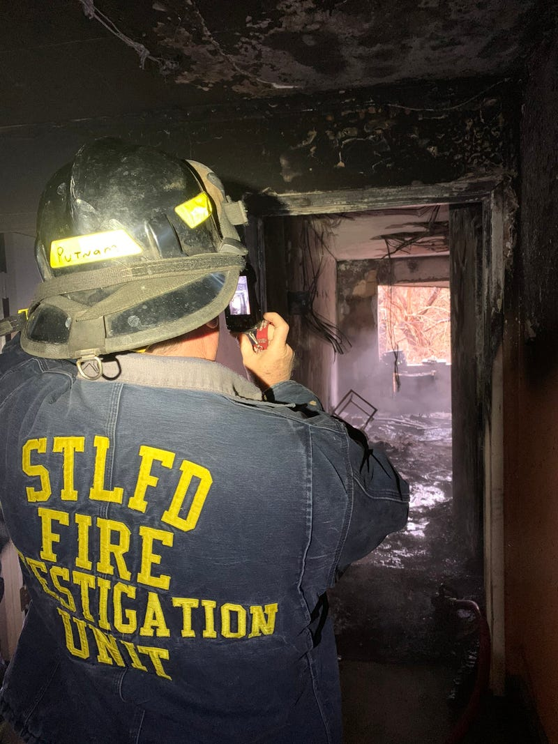 Four hurt, including a firefighter, in apartment fire in South City.