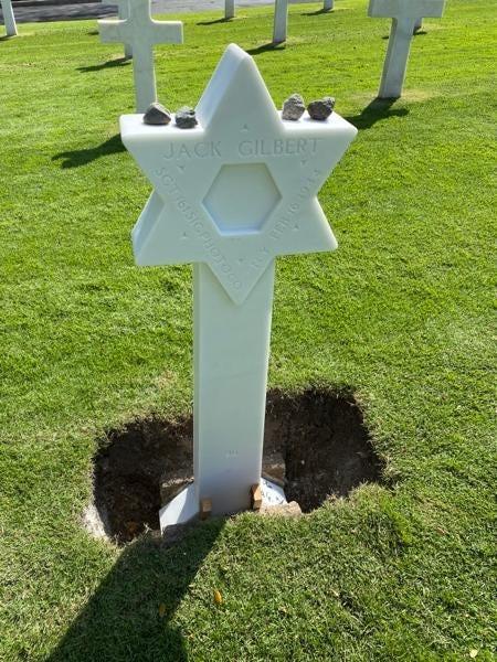 Operation Benjamin corrected headstone