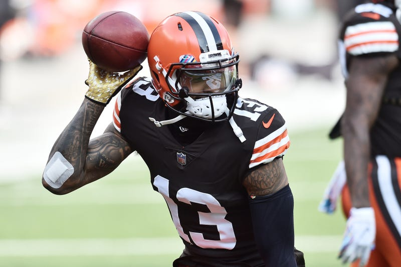 Cleveland Browns wide receiver Odell Beckham Jr.  warms up before a game earlier this season at FirstEnergy Stadium.