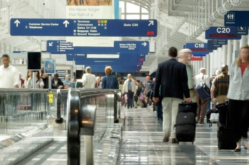 O'hare Airport, Nintendo, Play Station, Flight