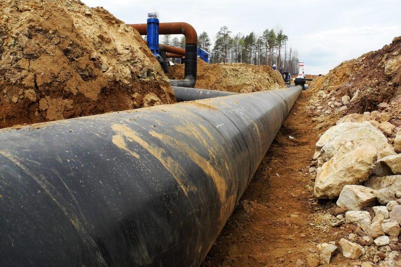 Oil Pipeline, Stock Image