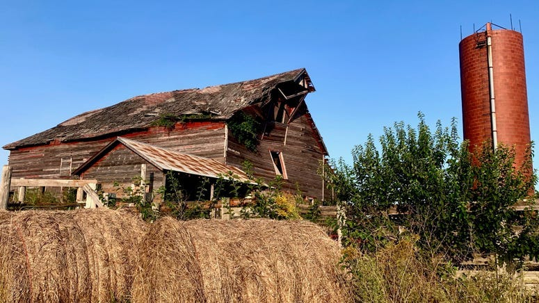Lansing, KS barn built in the 1800's torn down after years of decay