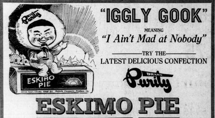 Newspaper ad for Eskimo Pie, on page 3 of the January 24, 1922 Duluth Herald.