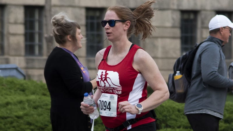 National Guard marathoners compete while expecting