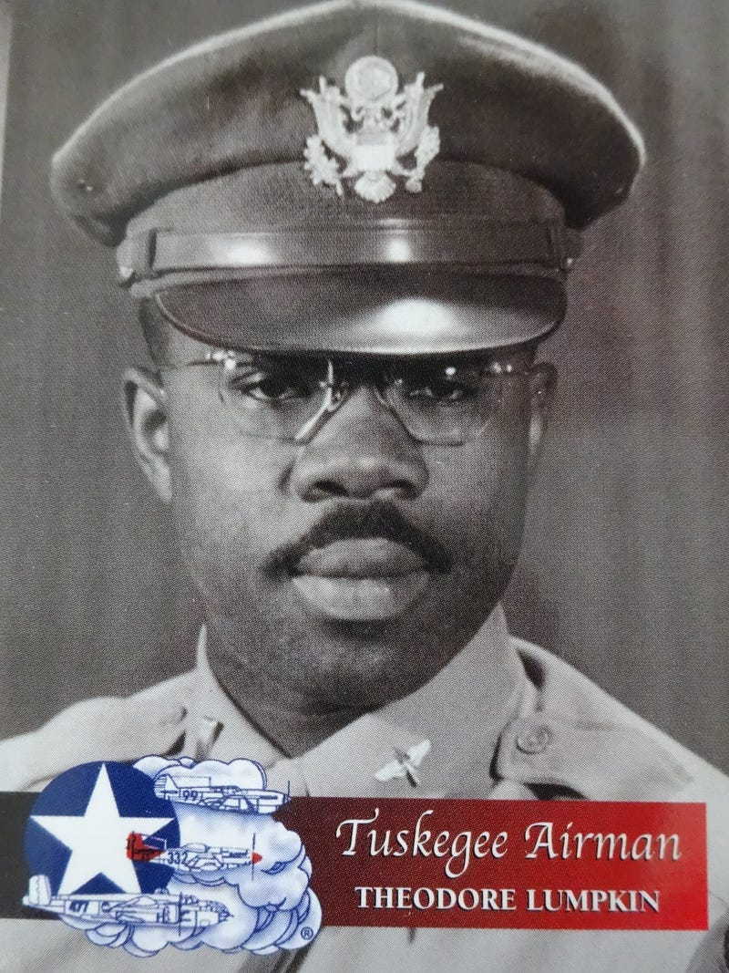 Tuskegee Airman Theodore Lumpkin served as an intelligence officer assigned to the 332nd Fighter Group during World War II.