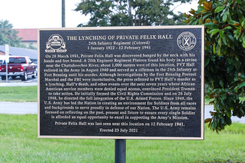 Fort Benning memorializes the only Black soldier known to be lynched on a military base