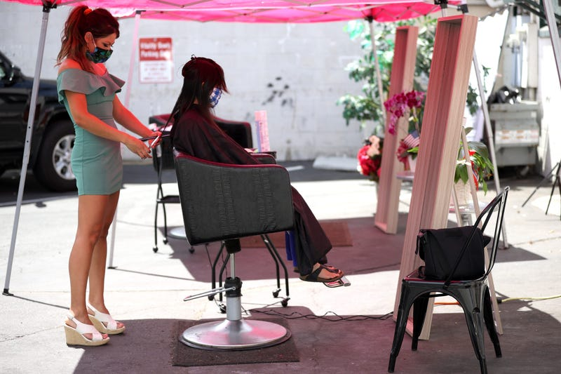Hair salons in San Francisco reopened for outdoor services Sept. 1 after months of forced closures