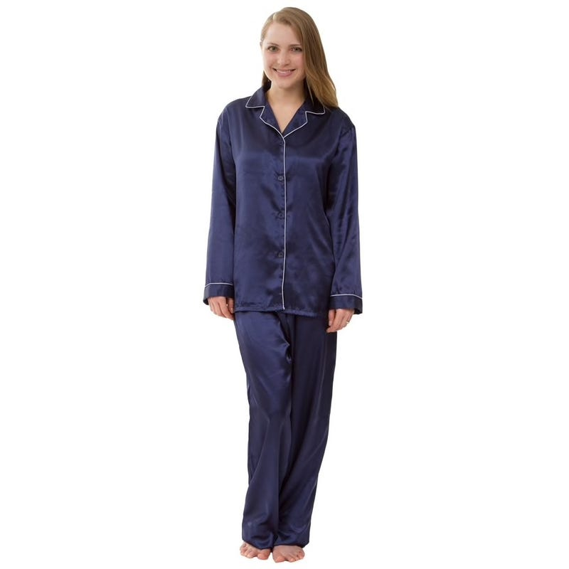 Women's Silky Satin Pajama Set