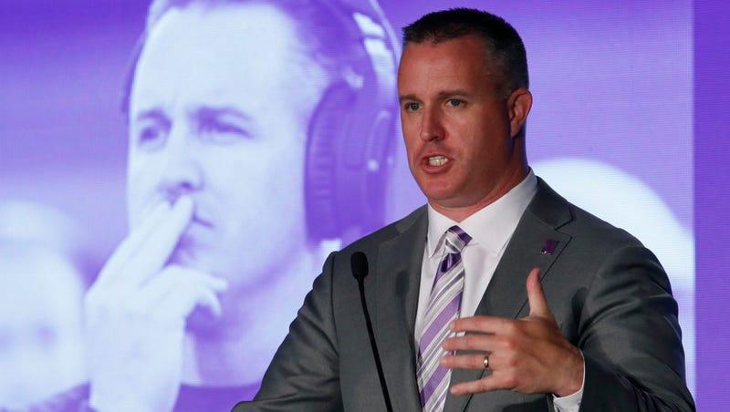 Northwestern football coach Pat Fitzgerald