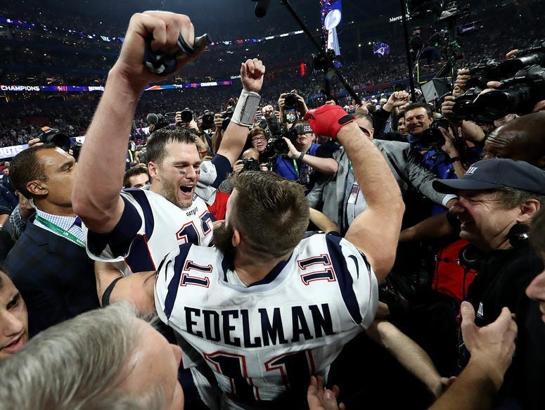 Tom Brady and Julian Edelman