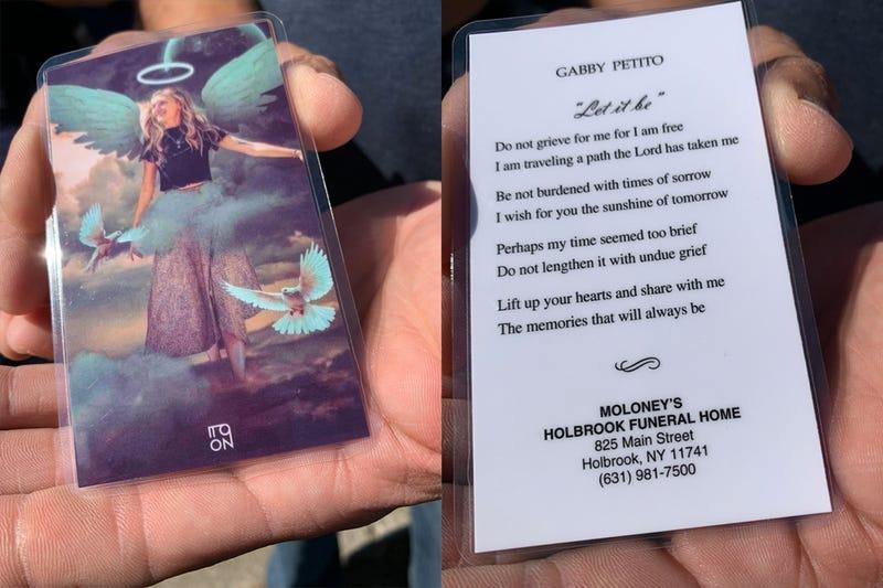 Gabby Petito prayer card