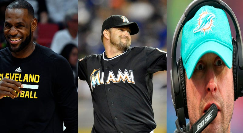 Lebron James, Heath Bell, Adam Gase