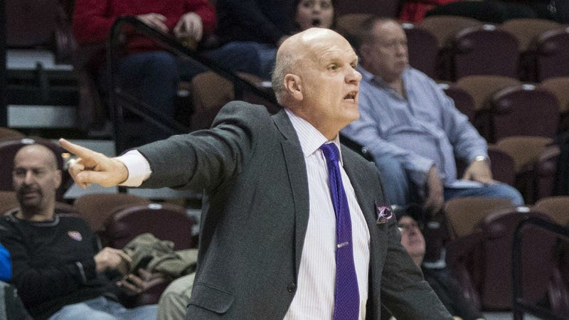 St. Joseph's Hawks head coach Phil Martelli reacts during the second half at Mohegan Sun Arena.