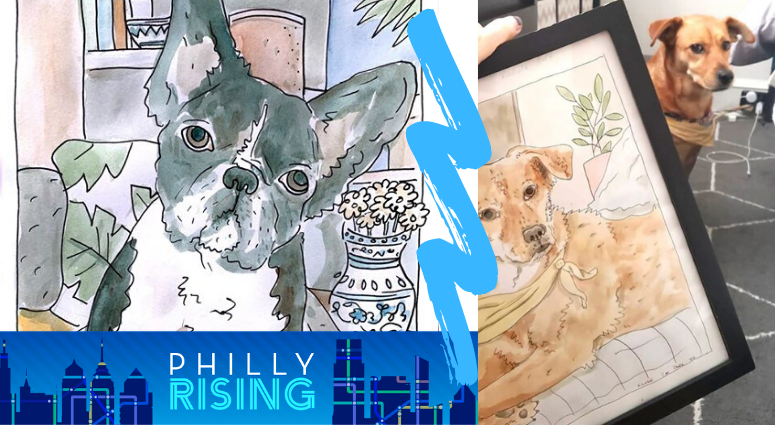 Cat Parker is creating pet portraits to raise money for social justice organizations