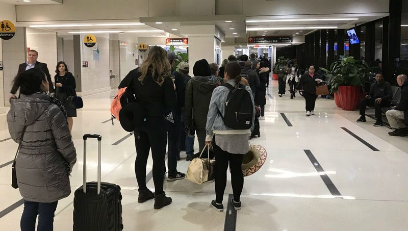 At some points, the TSA checkpoint line at Terminal D/E at Philadelphia International Airport was similar to the one the day before Thanksgiving.