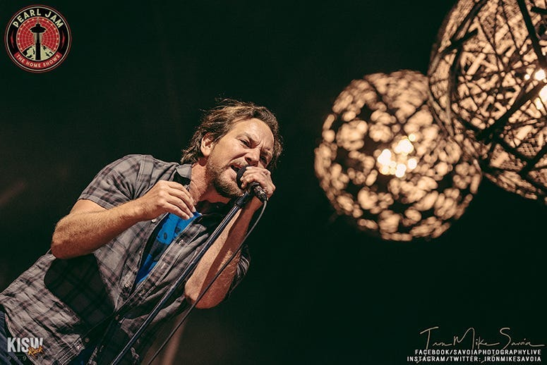 pearl jam home shows