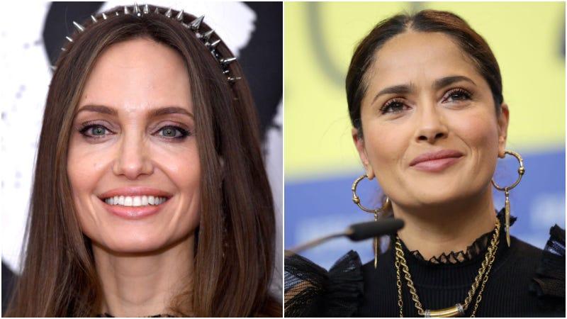 Angelina Jolie (left) / Salma Hayek (right)