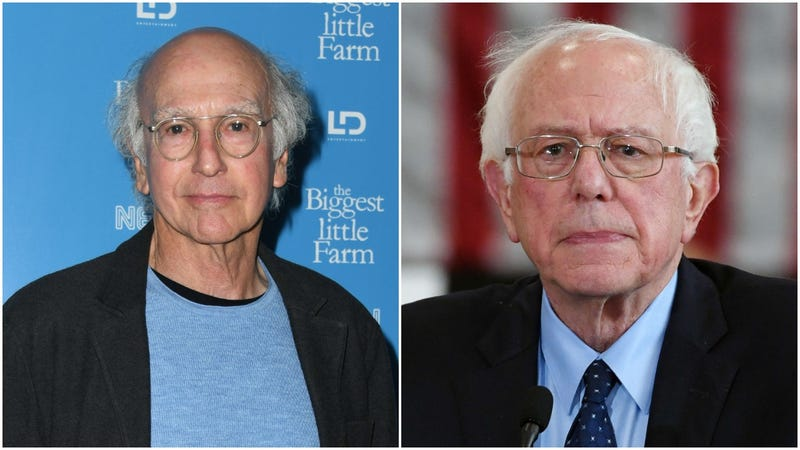 Larry David and Bernie Sanders