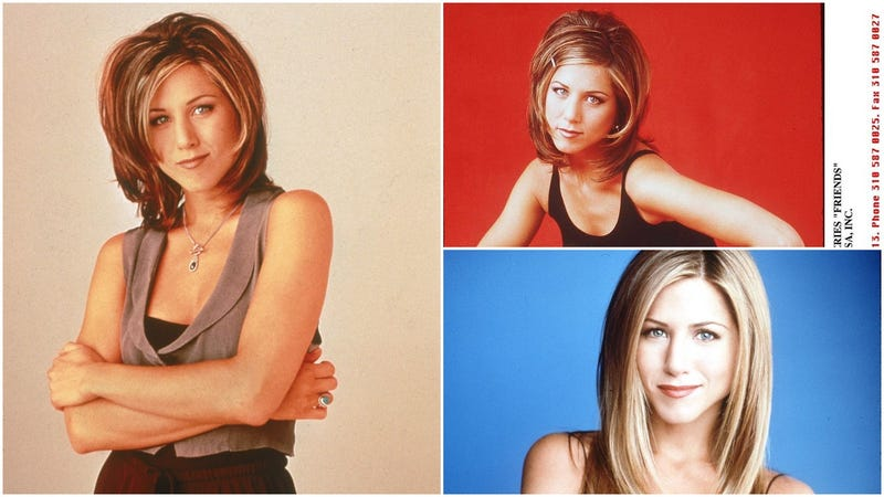 Transformation of Jennifer Aniston's hairstyles
