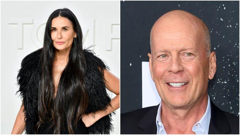 Demi Moore (left) / Bruce Willis (right)