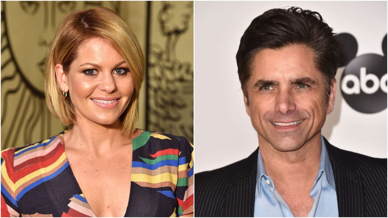 """Collage photo of """"Full House"""" stars Candace Cameron Bure and John Stamos"""