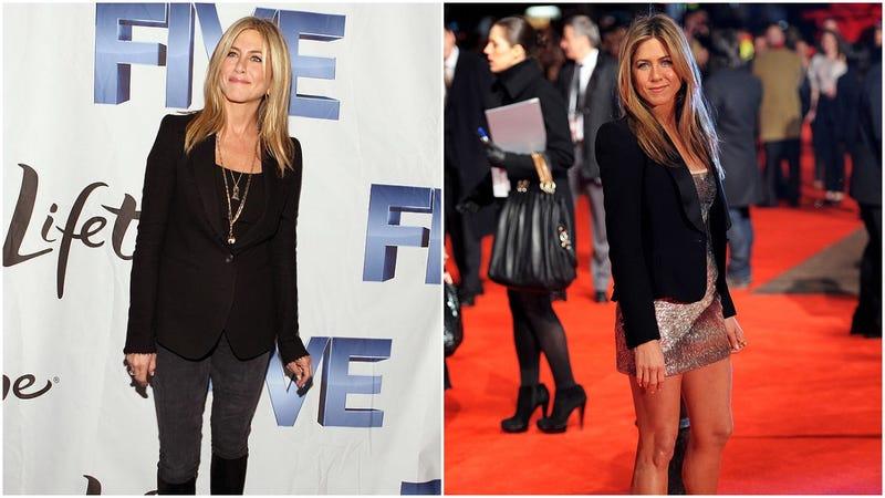 Jennifer Aniston in a blazer