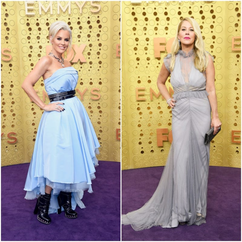 jenny mccarthy and christina applegate side by side from the 2019 emmys
