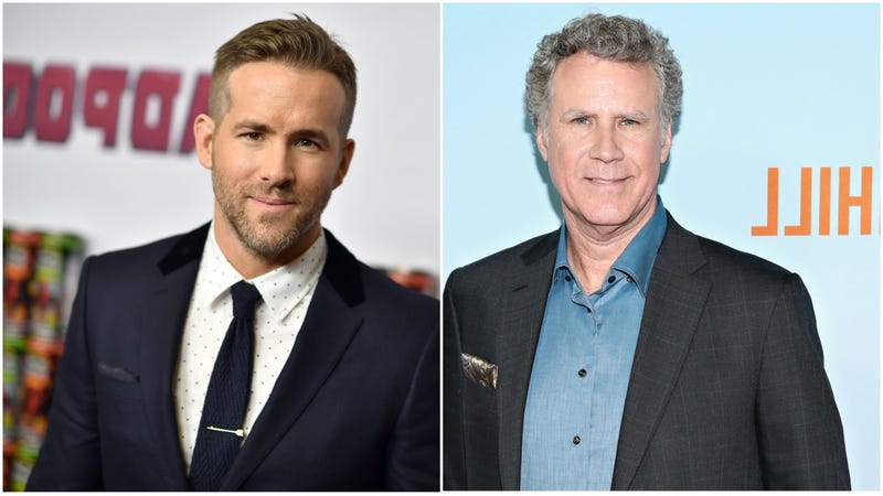 Collage photo of Ryan Reynolds and Will Ferrell