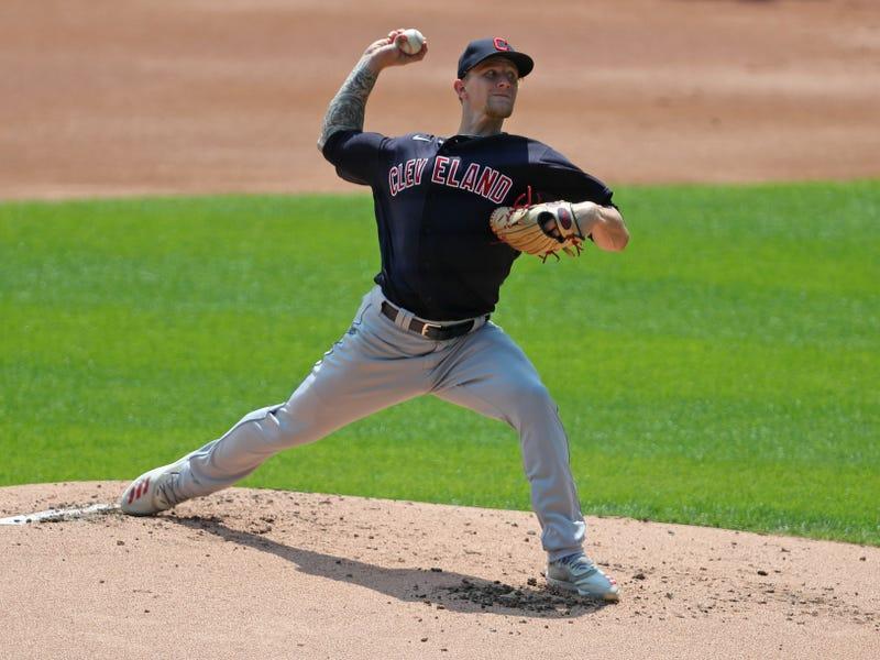Indians starting pitcher Zach Plesac