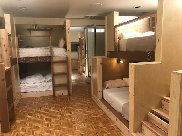 Bunkbeds at Podshare in San Francisco