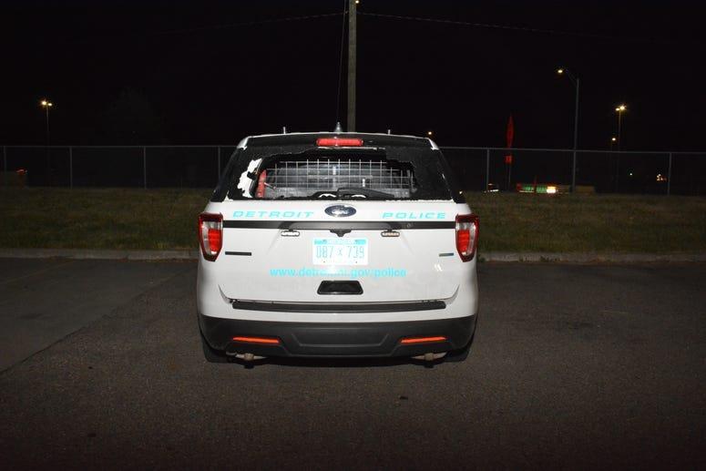 police car damage