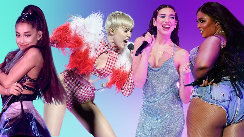 Ariana Grande, Miley Cyrus, Dua Lipa and Lizzo