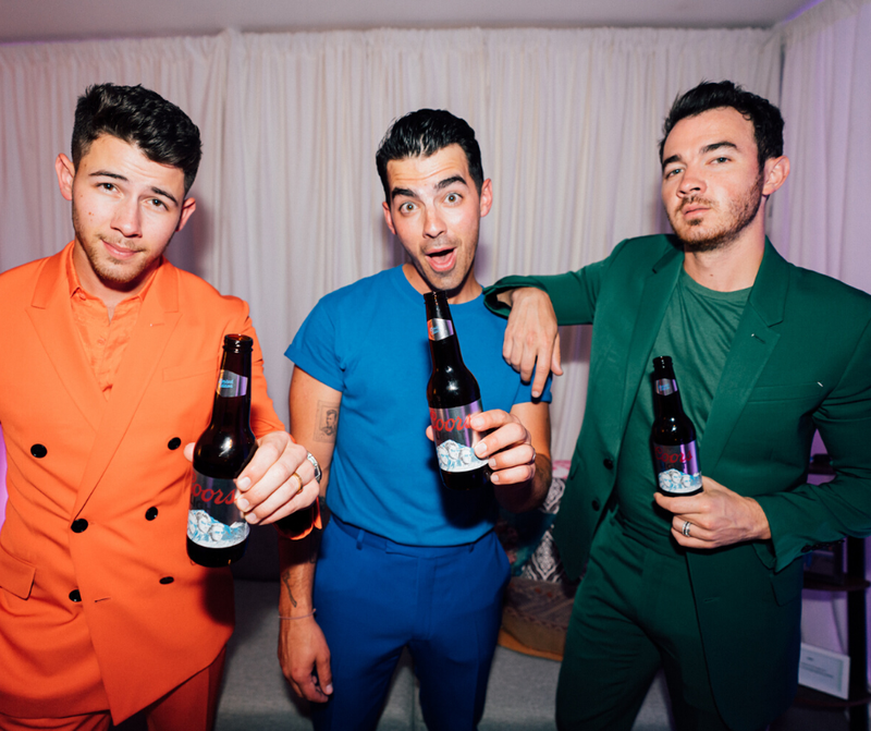 jonas brothers rocking the coors light bottles