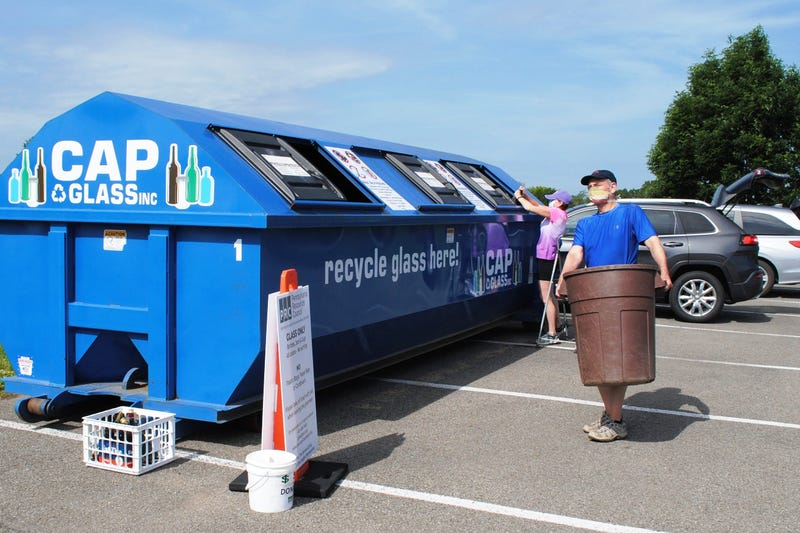 PRC glass recycling drop-offs
