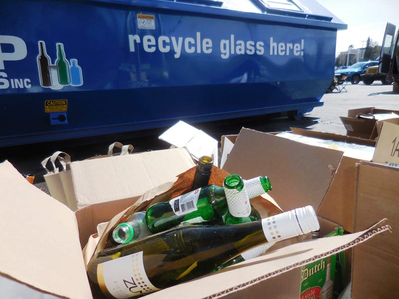 PRC glass recycling