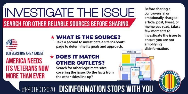 VVA campaign to prevent disinformation