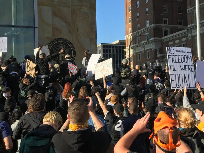 Protesters in Buffalo