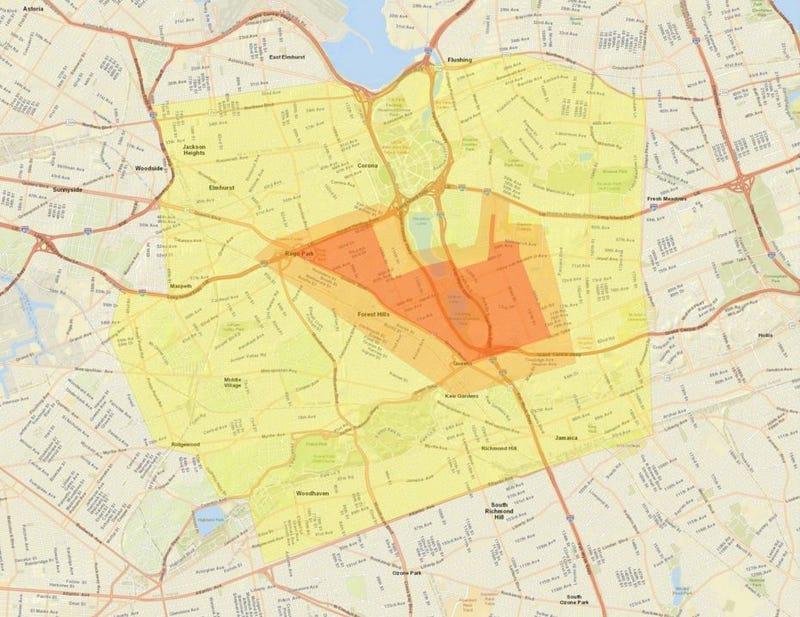 Queens cluster 1 map