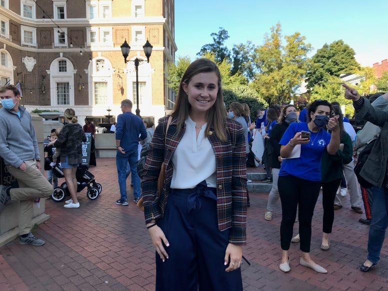 Rachel Hall, President and Founder of Clemson Students for Trump - Emily Gill