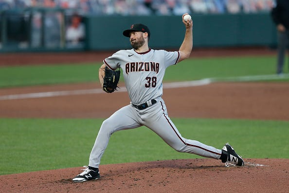 Robbie Ray pitches for the Diamondbacks