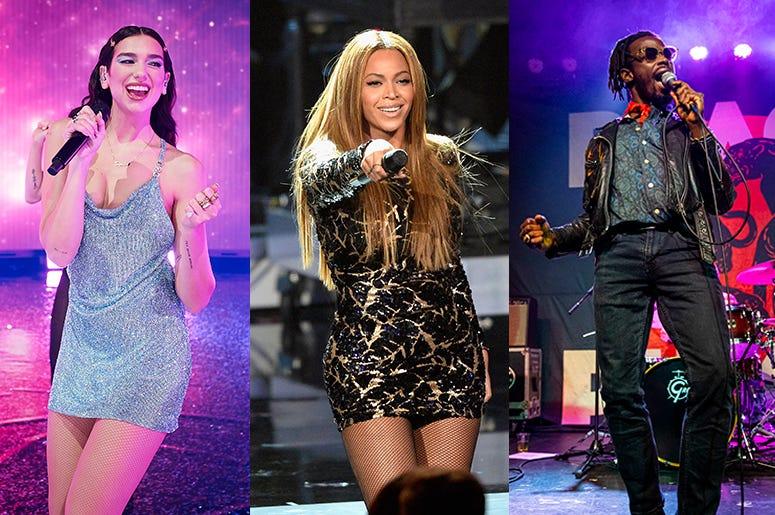 Dua Lipa, Beyonce, Black Pumas