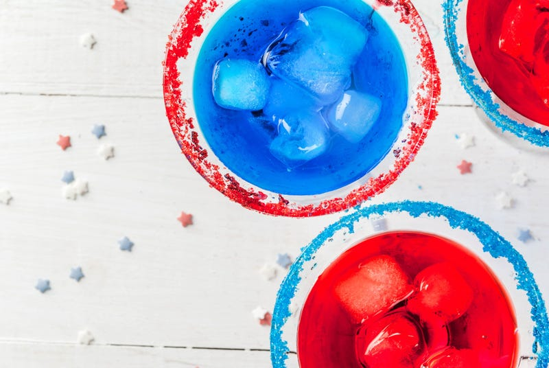 Make red, white, and blue themed cocktails at home!