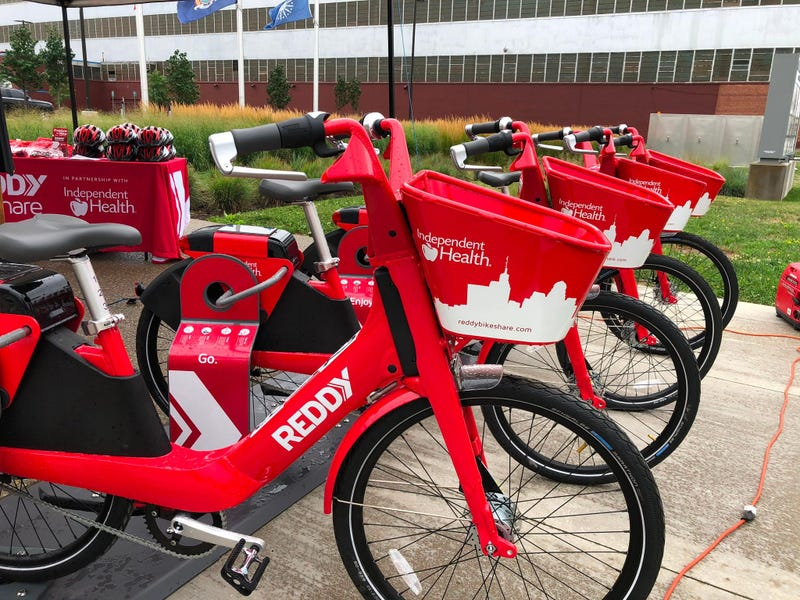Reddy Bikes at Northland Workforce Training Center. August 4, 2020 (WBEN Photo/Mike Baggerman)