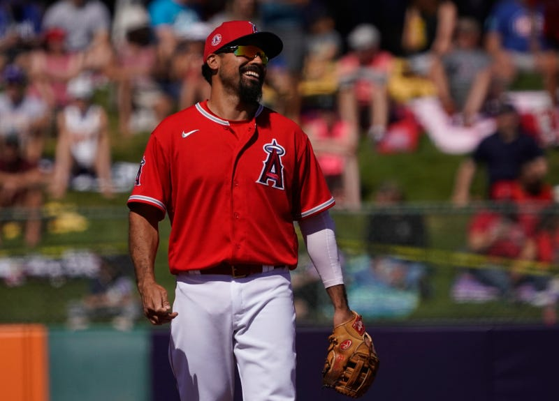 Anthony Rendon mans the hot corner for the Angels in spring training.
