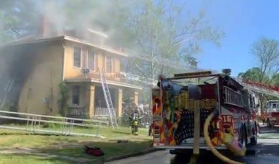 Richmond Firefighters battle fire on Delaware Aven